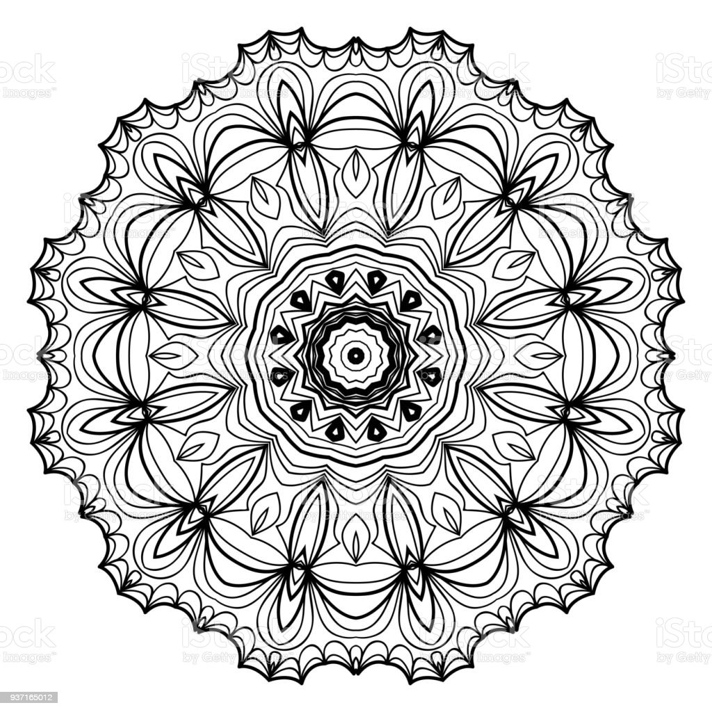 Ornament Beautiful Square Card With Mandala Vector Illustration Royalty Free