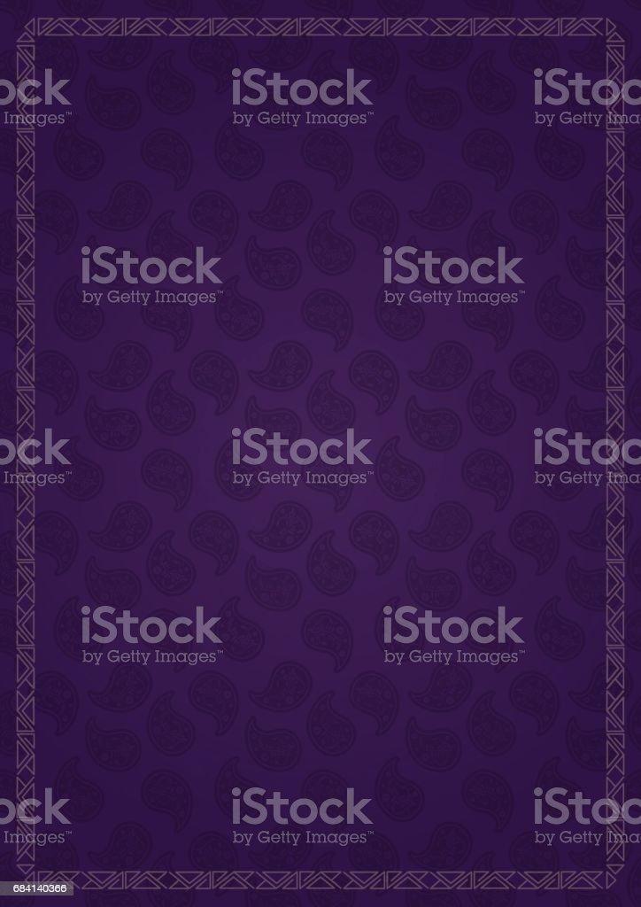 Sieraad grens retro stijl rechthoek Lila achtergrond royalty free sieraad grens retro stijl rechthoek lila achtergrond stockvectorkunst en meer beelden van art deco