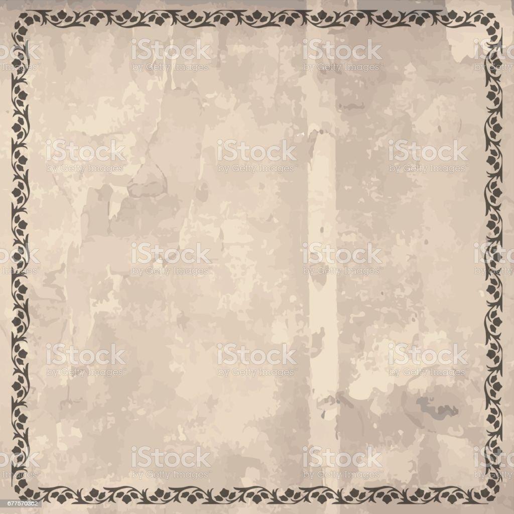 Ornament border retro style square wooden background royalty-free ornament border retro style square wooden background stock vector art & more images of brother