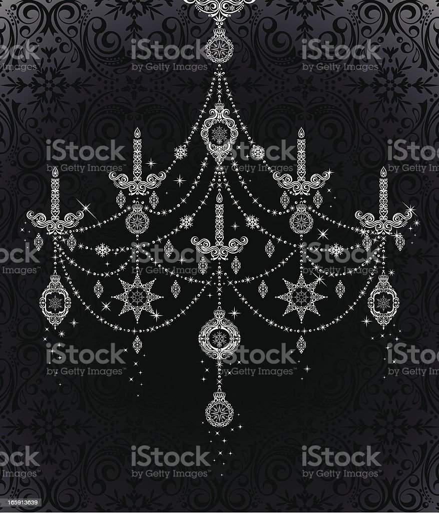 Ornament Chandelier vector art illustration
