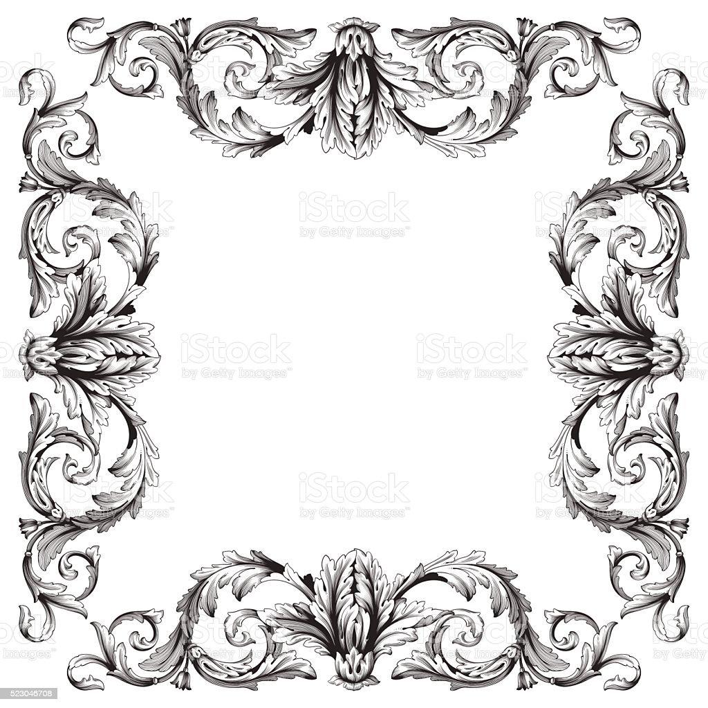 Ornament Rahmen Stock Vektor Art und mehr Bilder von Biegung ...