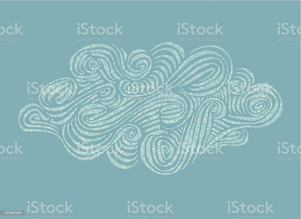 Ornament hand-drawn Cloud illustration royalty-free stock vector art