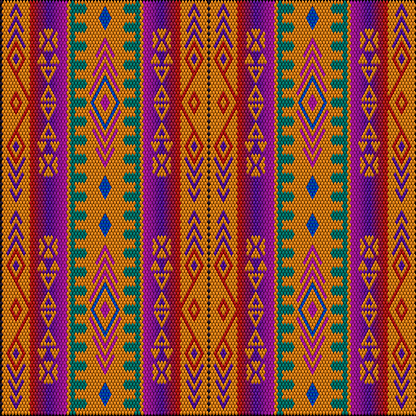 Ornament  is made in bright, juicy, perfectly matching colors. Ornament, mosaic, ethnic, folk pattern.