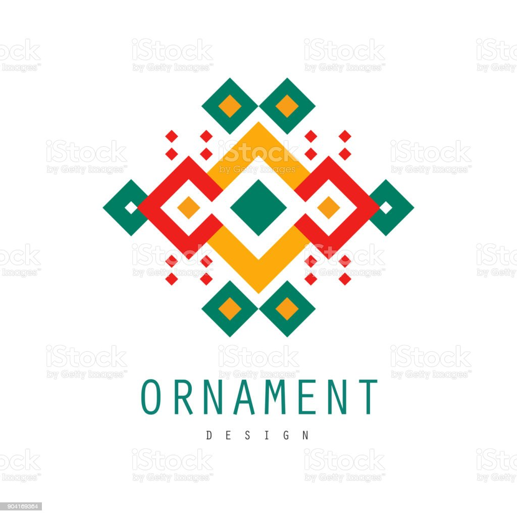 Ornament Logo Design Ornate Pattern With Geometric Shapes Decorative