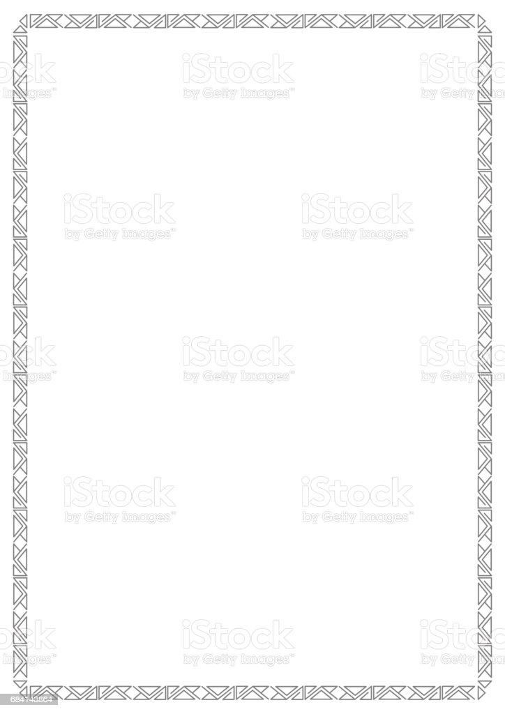 Ornament retro style square dark white background ornament retro style square dark white background - stockowe grafiki wektorowe i więcej obrazów art deco royalty-free