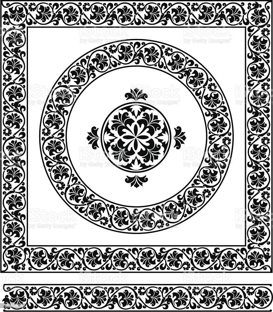 ornament set royalty-free stock vector art