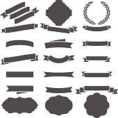Vector File of Doodle Ribbon Set