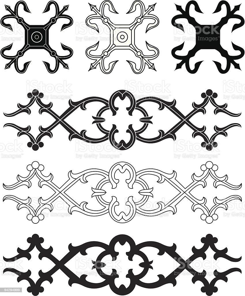 Ornament (vector) vector art illustration