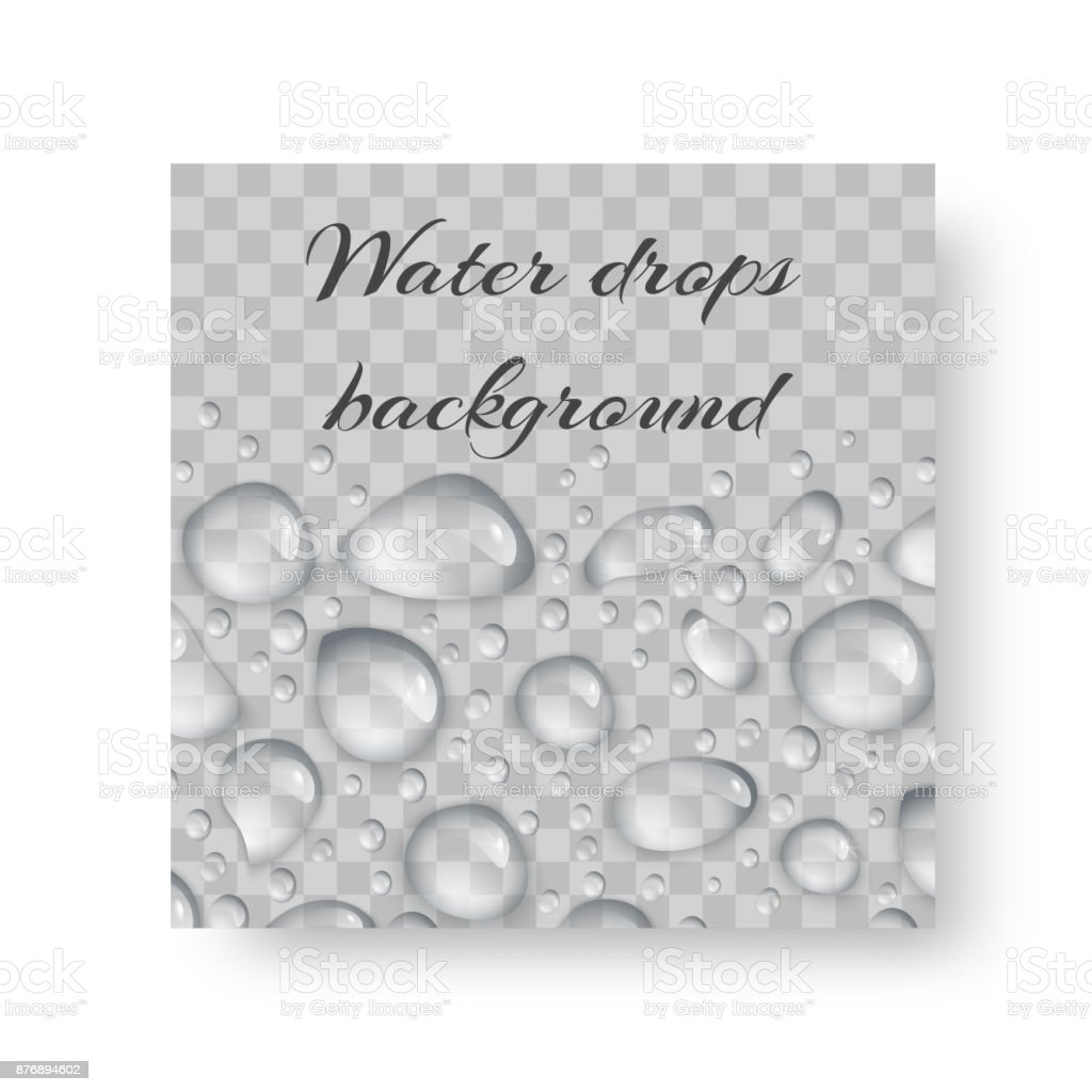 Ornament with drops of dew vector art illustration