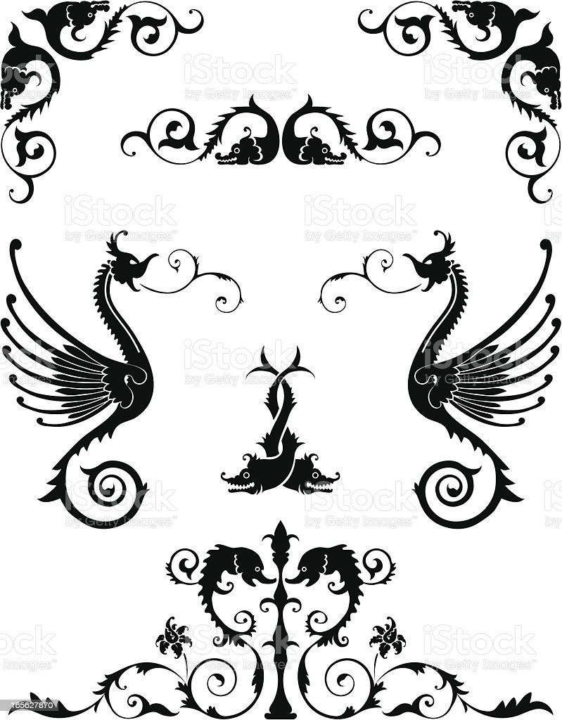 Ornamental Animals royalty-free ornamental animals stock vector art & more images of angle