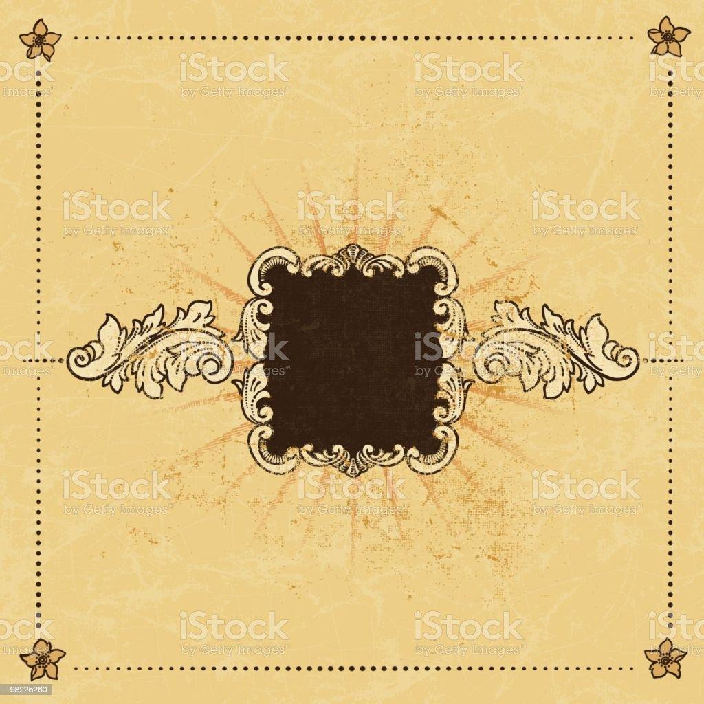 Ornamental Antique Grunge Frame royalty-free ornamental antique grunge frame stock vector art & more images of antique
