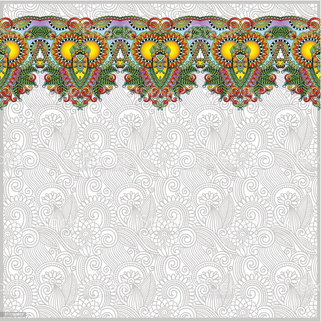 Ilustración de Fondo Con Flores Decorativas Tira De Cinta Greeti ...