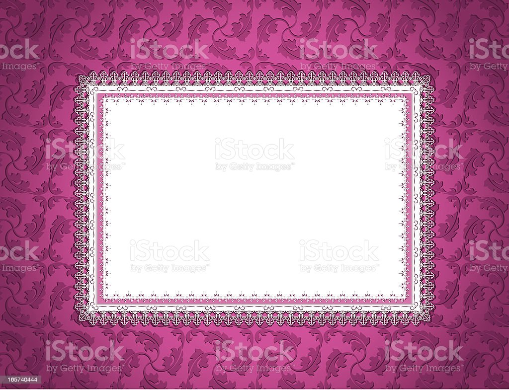 Ornamental Card Pink royalty-free stock vector art