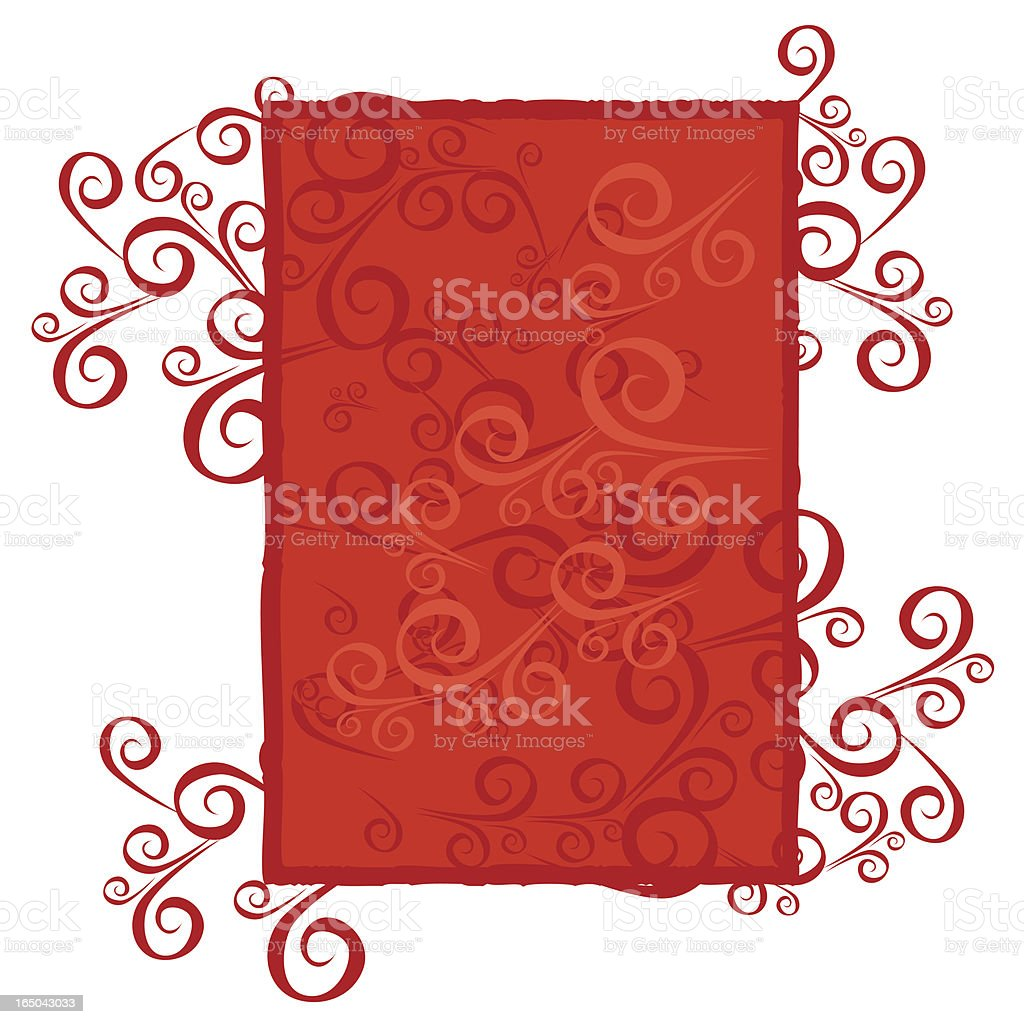 Ornamental Christmas background royalty-free stock vector art