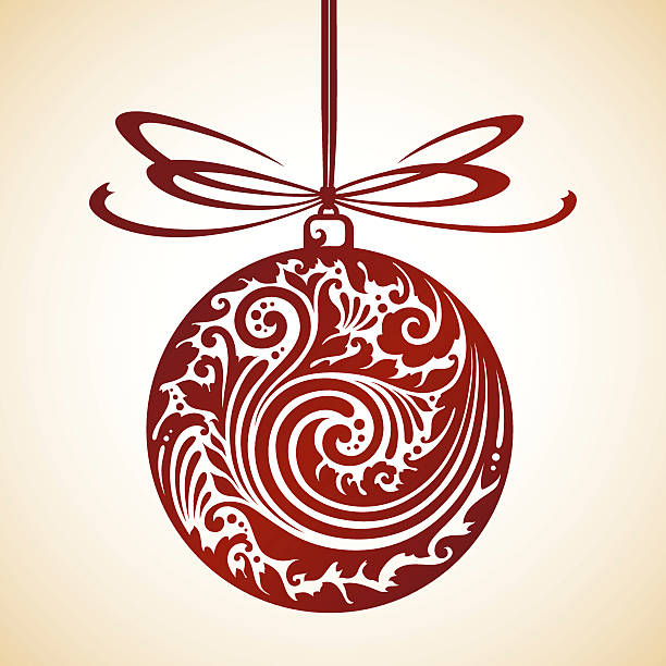 Ornamental Christmas Decoration Vector illustration ornamental Christmas Decoration mistery stock illustrations