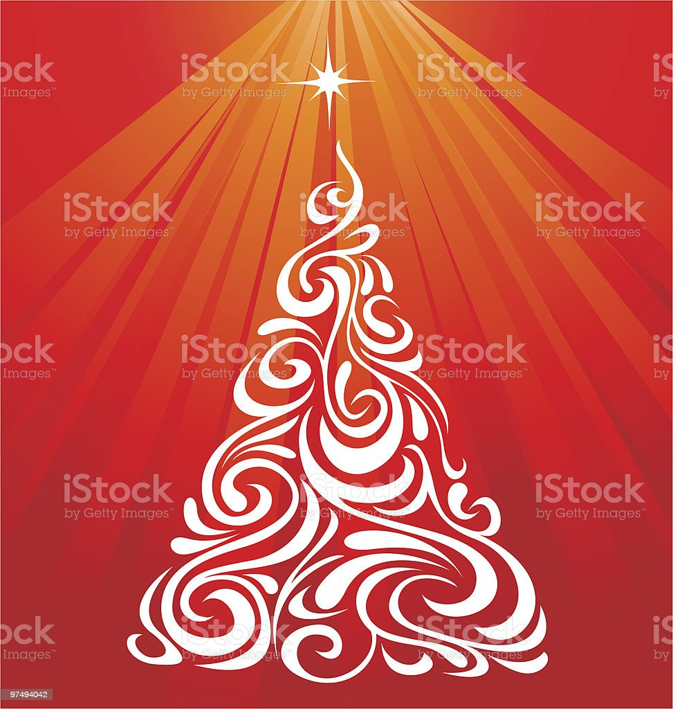 Ornamental Christmas Tree royalty-free ornamental christmas tree stock vector art & more images of christmas