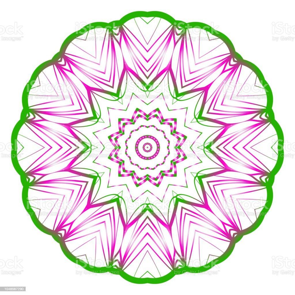 03e61b59e8c Decoratieve cirkel patroon. Hand tekenen Mandala. Vintage decoratieve  elementen. vectorillustratie. Antistress therapie