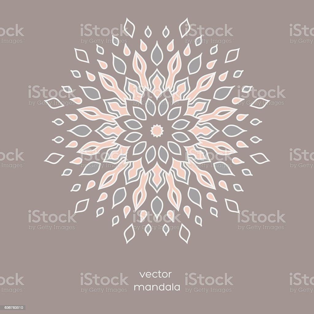Ornamental colorful floral mandala. - ilustración de arte vectorial