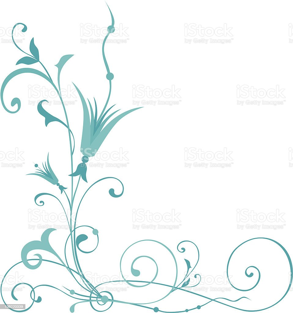 ornamental corner royalty-free stock vector art