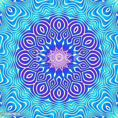 istock Ornamental decorative abstract mandala. Vector image. 1348078915