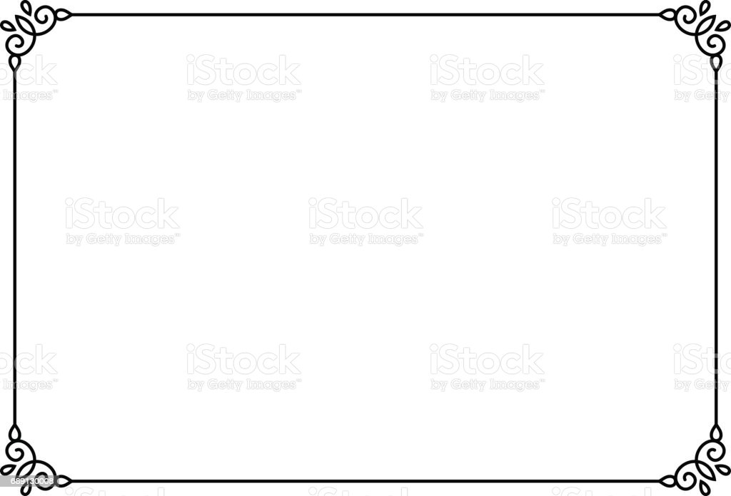 Ornamental Decorative Page Frame Vector Line Style Border
