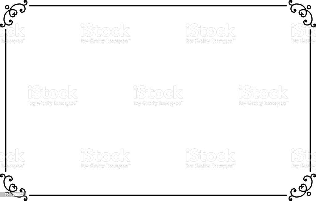 Cadre De Page Décoratifs Ornementaux Modèle De Bordure Style