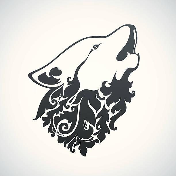 Ornamental decorative wolf Vector ornamental decorative wolf mistery stock illustrations