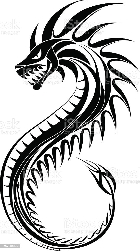 Ornamental dragon royalty-free ornamental dragon stock vector art & more images of ancient