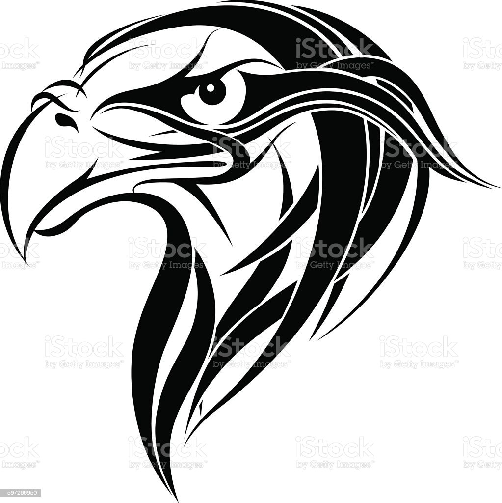 Ornamental eagle head royalty-free ornamental eagle head stock vector art & more images of animal body part
