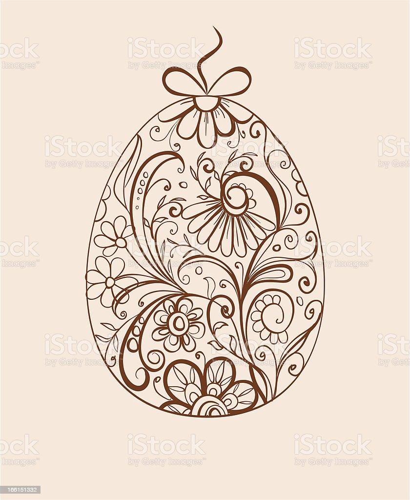 ornamental egg royalty-free stock vector art