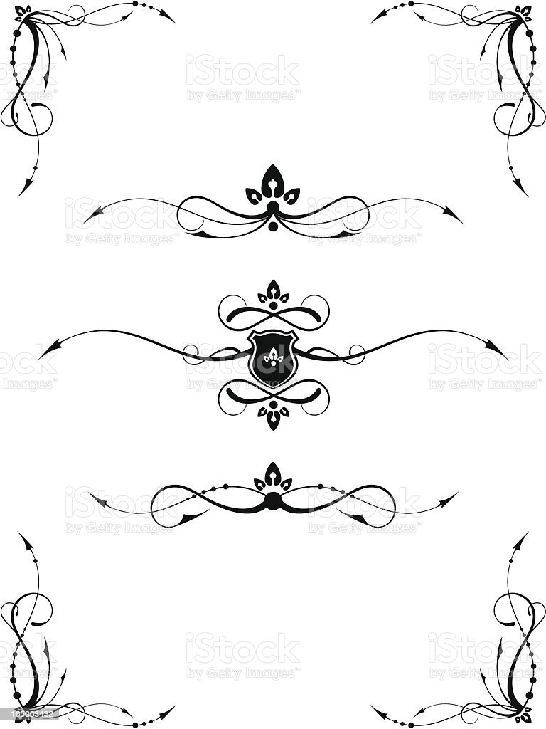 Ornamental elements royalty-free ornamental elements stock vector art & more images of abstract