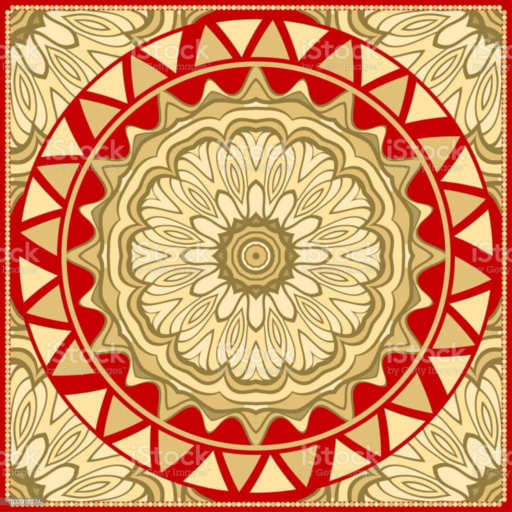 Ornamental Ethnic Pattern For Fashion Design Shawl Textile