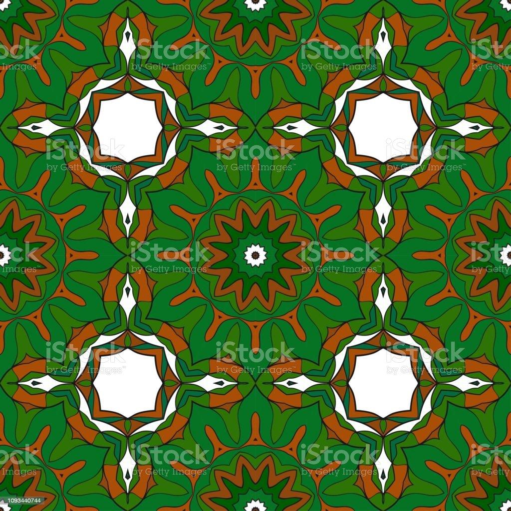 Ornamental Ethnic Seamless Floral Pattern For Fashion Design Shawl Textile Bandanna Print Invitation Card Vector Illustration Stock Illustration