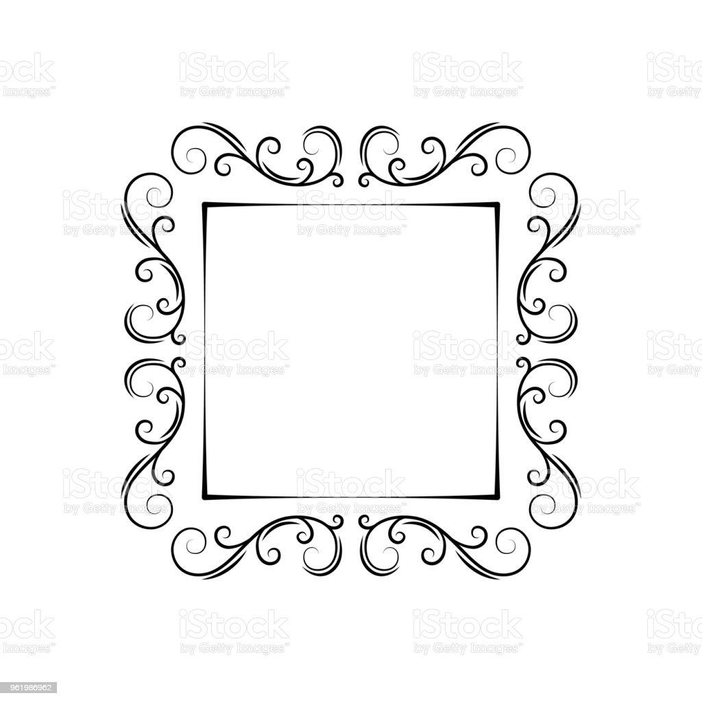 Ornamental Filigree Frame. Vintage Decorative Design Elemet. Swirls,  Scroll, Curls. Page