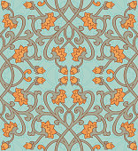 Vector floral pattern. Colorful template for textile, shawl, carpet.