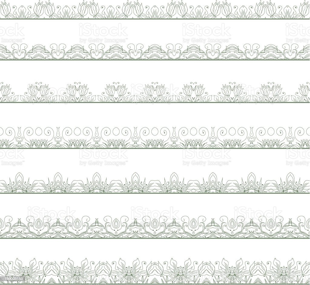 Ornamental floral seamless pattern royalty-free stock vector art