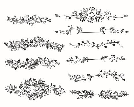 Ornamental Floral Vector Dividers