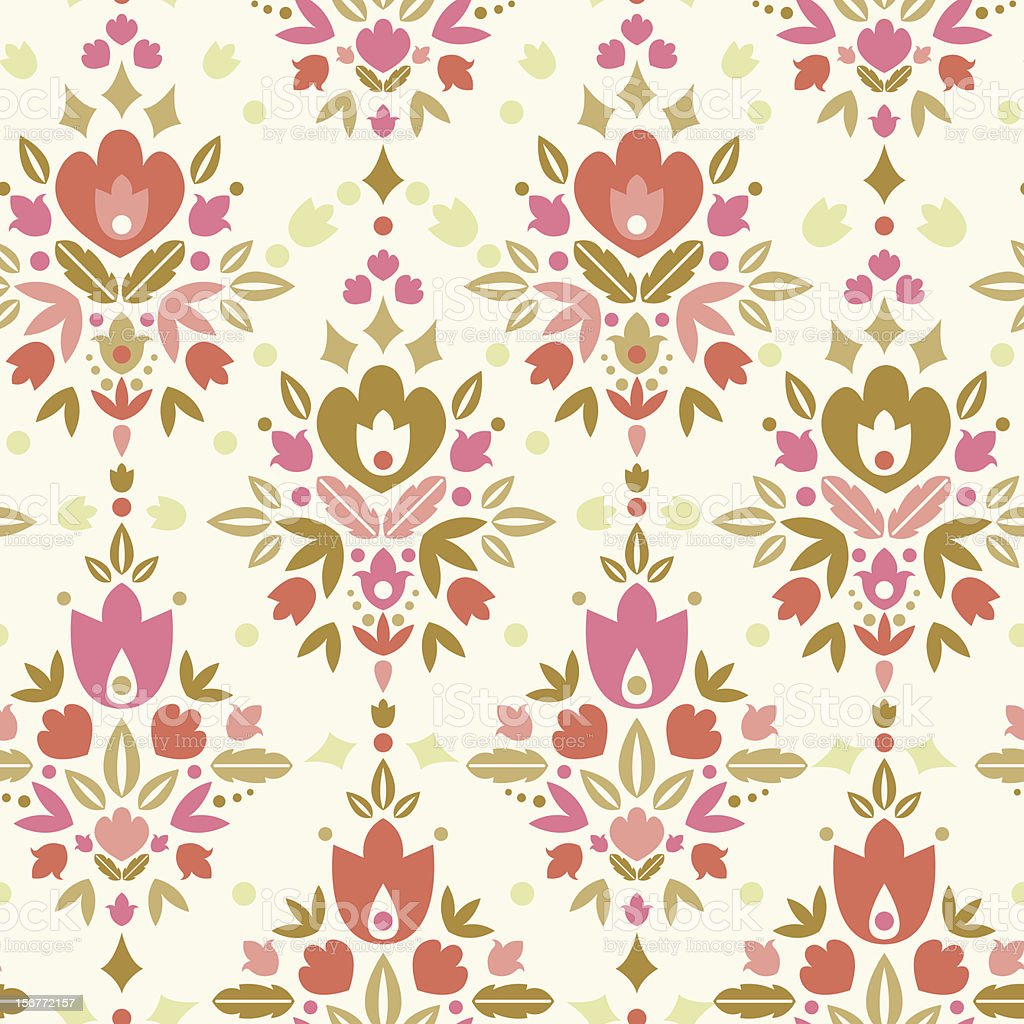 Ornamental Flower Dance Seamless Pattern Background royalty-free ornamental flower dance seamless pattern background stock vector art & more images of abstract