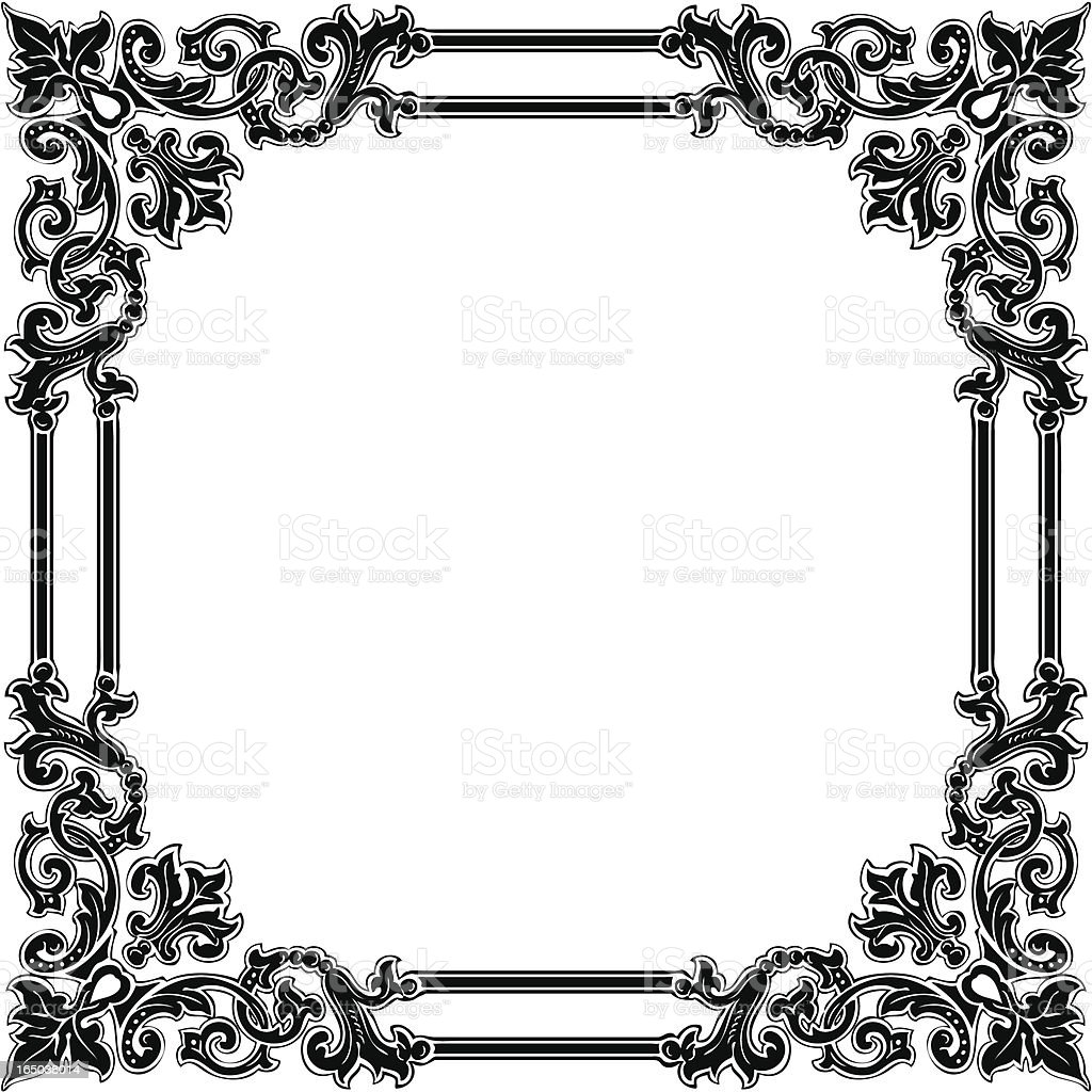 Ornamental frame vector art illustration