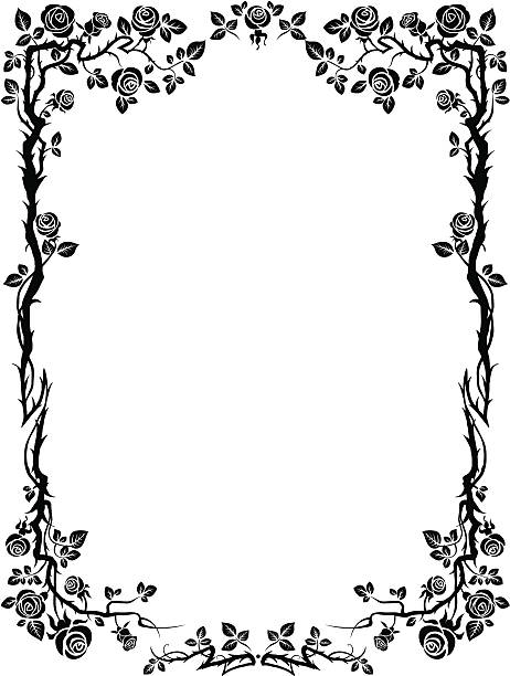 Ornamental frame with roses Ornamental frame with roses with space for text  ZIP includes EPS, AI, JPG RGB fairy tale stock illustrations