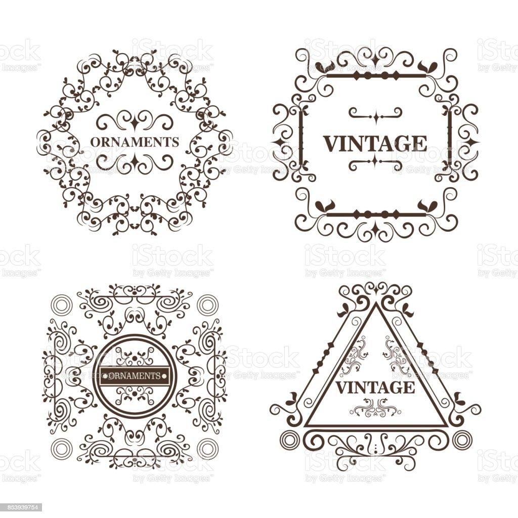 Ilustración de Diseño De Marcos Ornamentales y más banco de imágenes ...