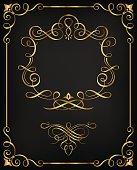 Ornamental Golden Calligraphic Frame