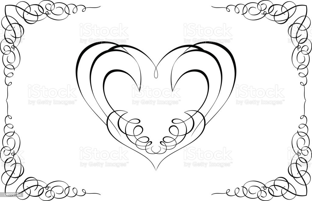 관상용 심장 프페임 royalty-free 관상용 심장 프페임 0명에 대한 스톡 벡터 아트 및 기타 이미지