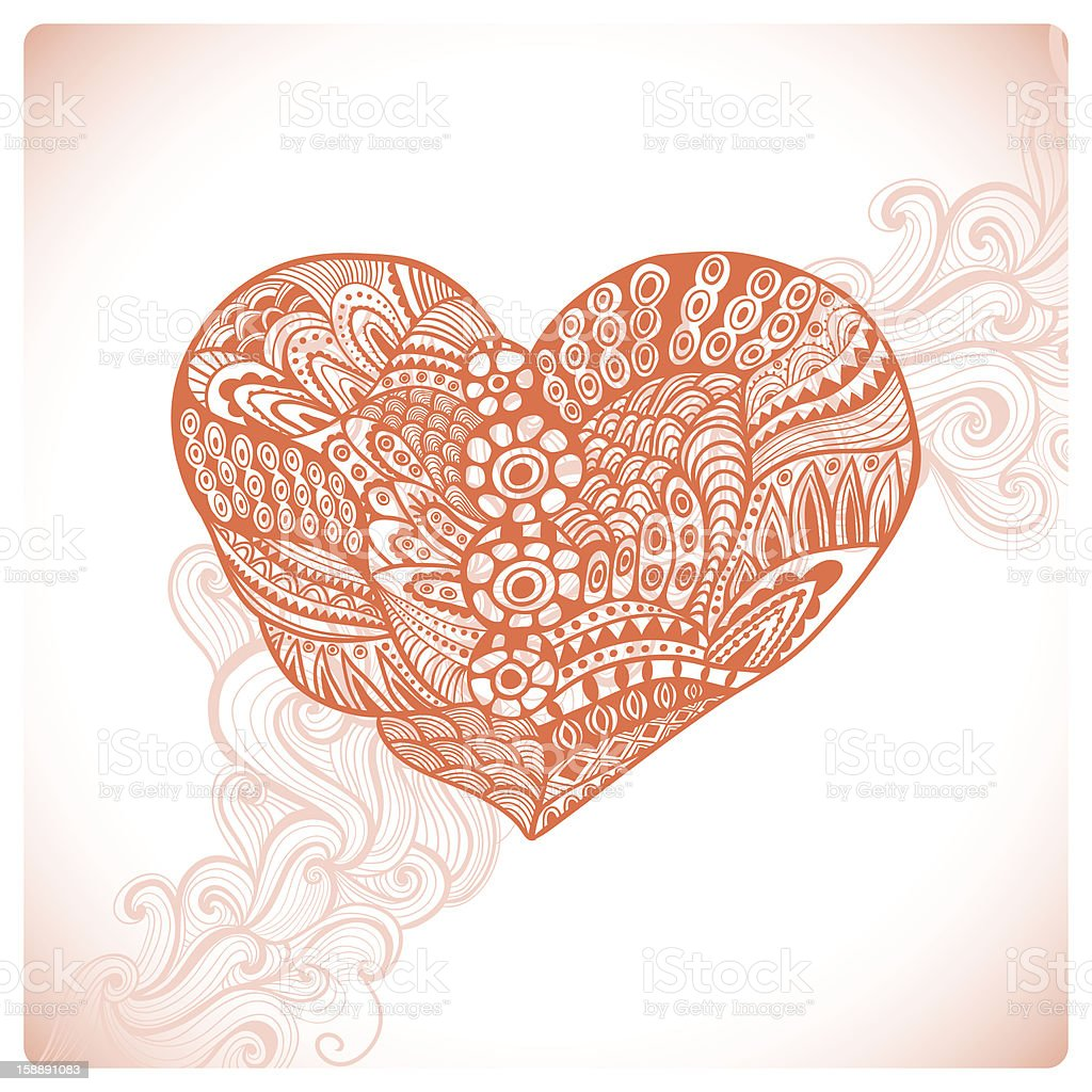 Ornamental heart royalty-free ornamental heart stock vector art & more images of art