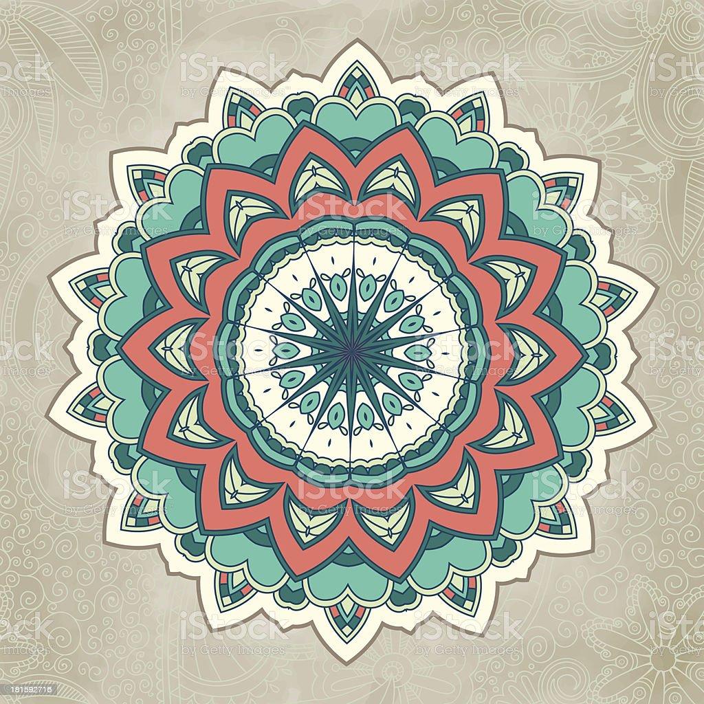 Ornamental lace pattern. Circle. royalty-free stock vector art