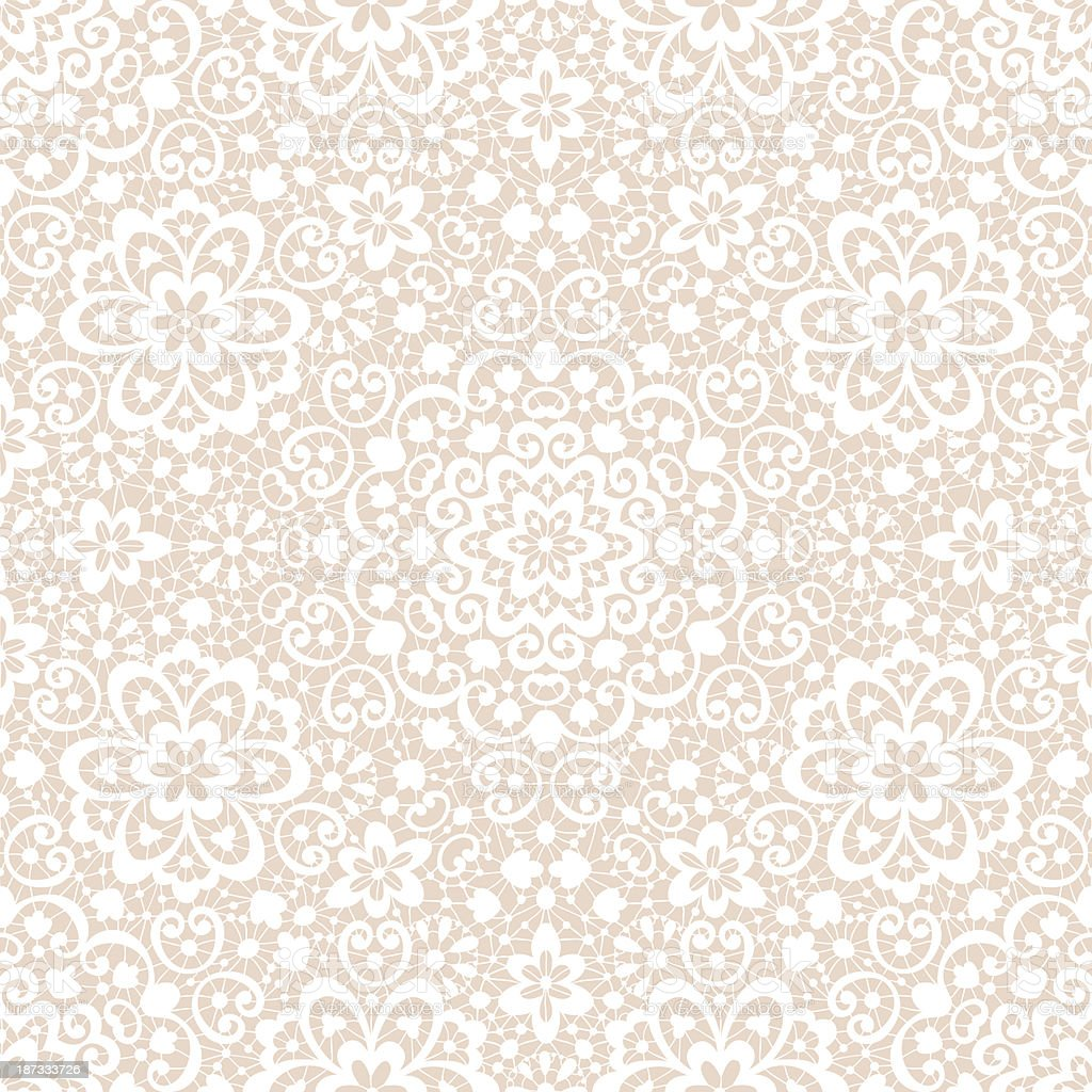 Ornamental lace seamless pattern vector art illustration