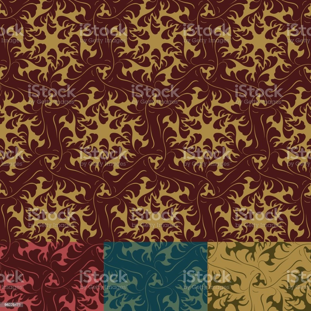 Ornamental Nouveau Wallpaper royalty-free stock vector art