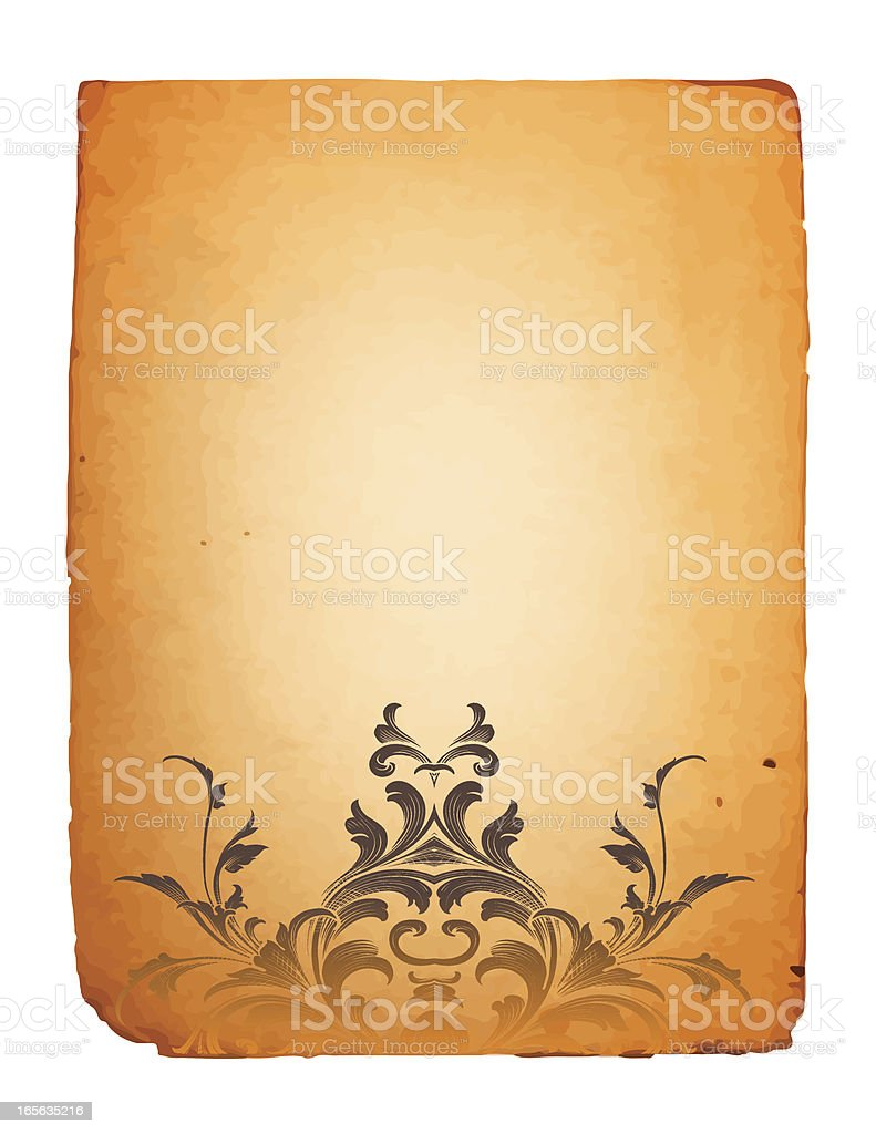 Ornamental Parchment Footer royalty-free stock vector art