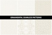 Ornamental patterns - seamless vector collection. Luxury grid backgrounds.