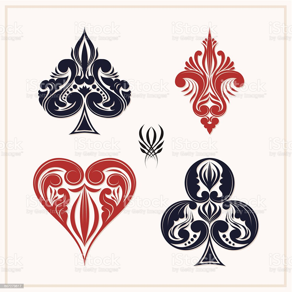 Ornamental Playing Card vector art illustration